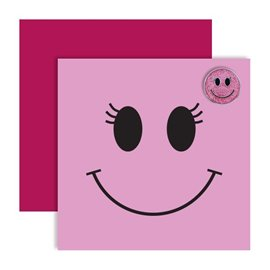 Ball Marker Card Pink Smiley