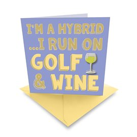 Ball Marker Card Golf & Wine White
