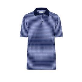 KJUS Luis Stripe Polo S/S Baja Blue