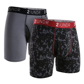 2UNDR 2-Pack Swing Shift Grijs/Digiprint