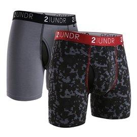 2UNDR 2-Pack Swing Shift Grijs/Digiprint