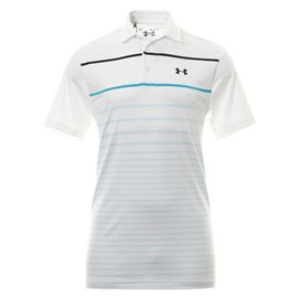 Under Armour Playoff Polo 2.0 Wit/Blauw/Zwart
