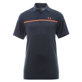 Under Armour Playoff Polo 2.0 Navy/Oranje Streep