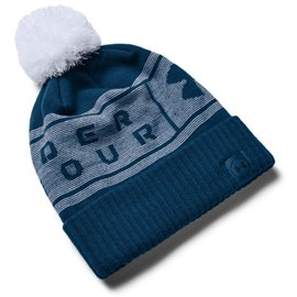 Under Armour Herenbeanie Pom Blauw