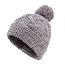 Under Armour Damesbeanie Around Town Pom Lila/Taupe