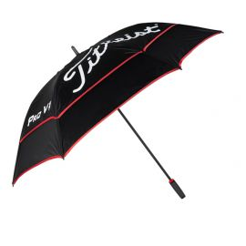 Titleist Tour Double Canopy paraplu zwart-wit-rood