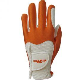 FIT39EX Golfhandschoen Wit/Oranje