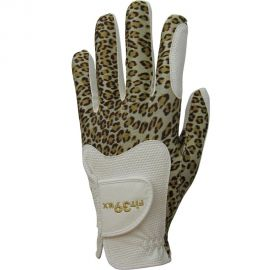 FIT39EX Golfhandschoen Wit/Luipaard