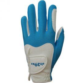 FIT39EX Golfhandschoen Wit/Lichtblauw