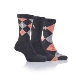 Glenmuir Gift Box 3 Paar Dames Sokken Grijs