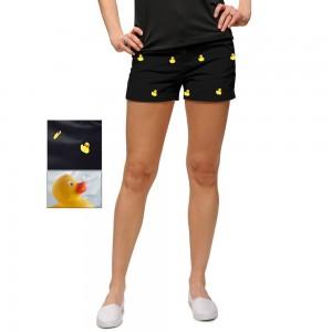 Dames Korte Broek Zwart.Loudmouth Rubber Duckies Shorts Golfbroeken Dames Golfcenter Nl