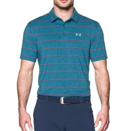 Under Armour Playoff Polo Roze Gestreept