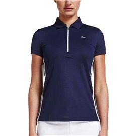 Röhnisch Stripe Poloshirt Blauw
