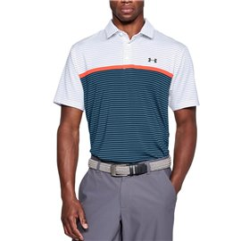 Under Armour Playoff Polo Wit/Blauw