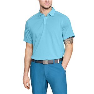 Under Armour Threadborne Polo Lichtblauw