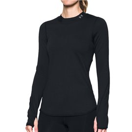 Under Armour Dames Thermoshirt Zwart
